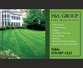 P&L Group Lawn Maintenance - tagged with luxury home