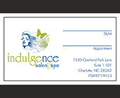 Indulgence Salon and Spa Business Cards - Beauty