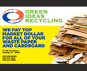 Green Ideas Recycling - 9x6 graphic design