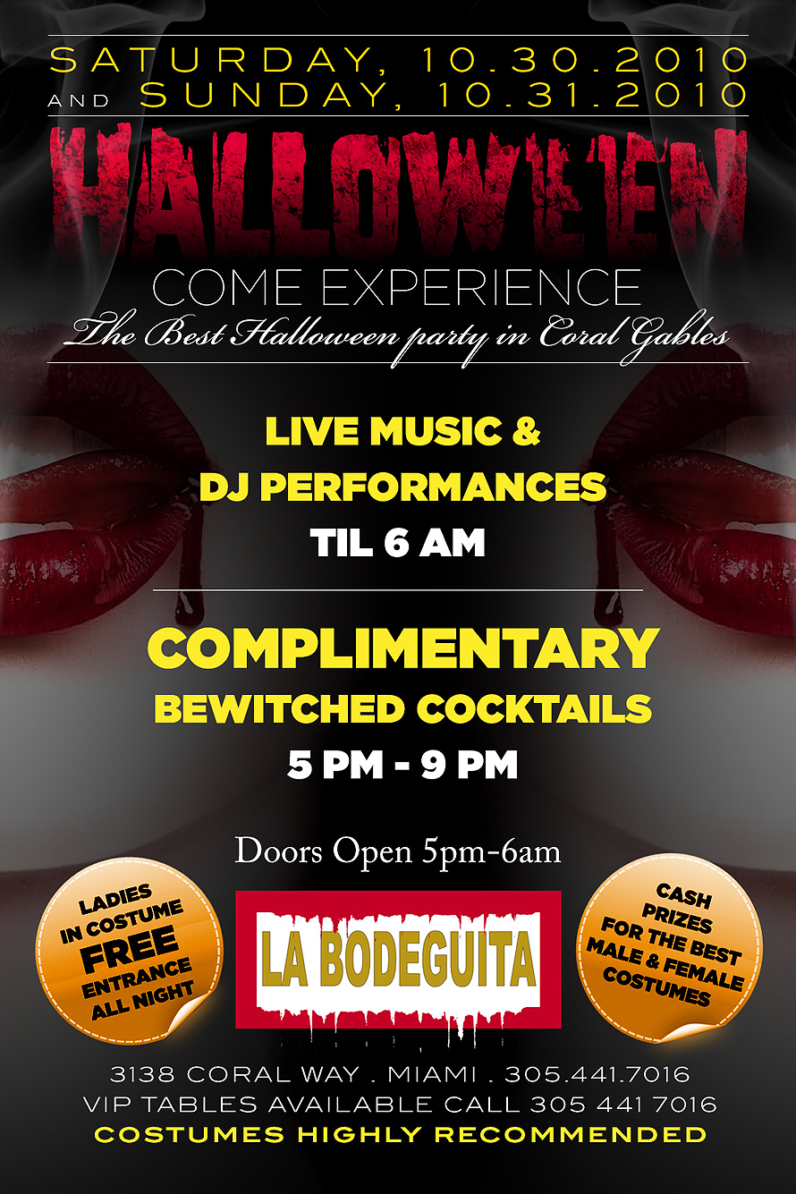 Best Halloween Party in Coral Gables at La Bodegita