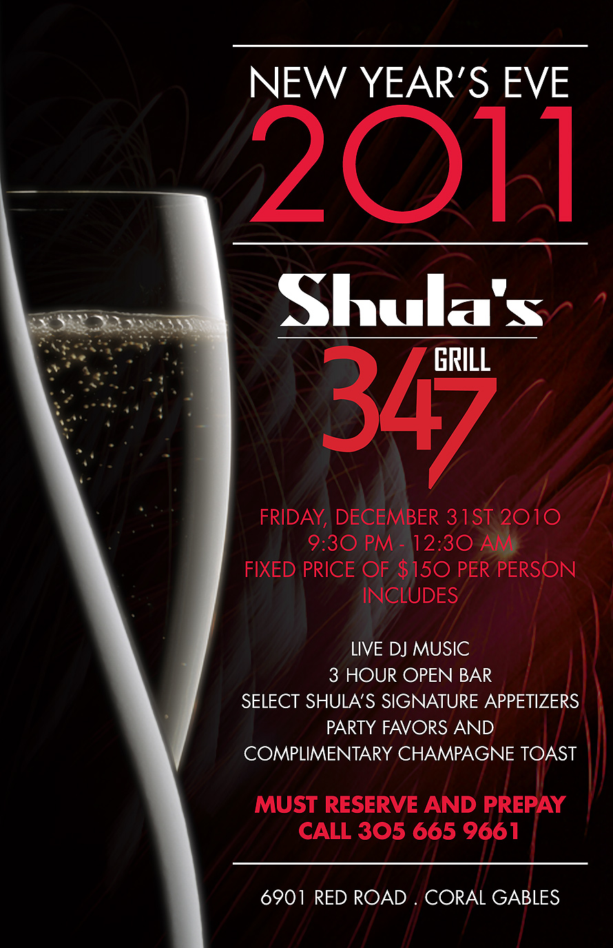 Shula's New Years Eve