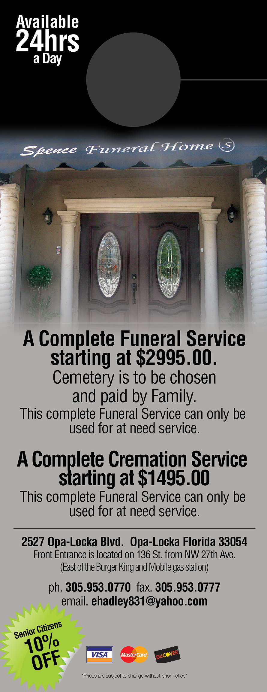 Spence Funeral Home Helping Families