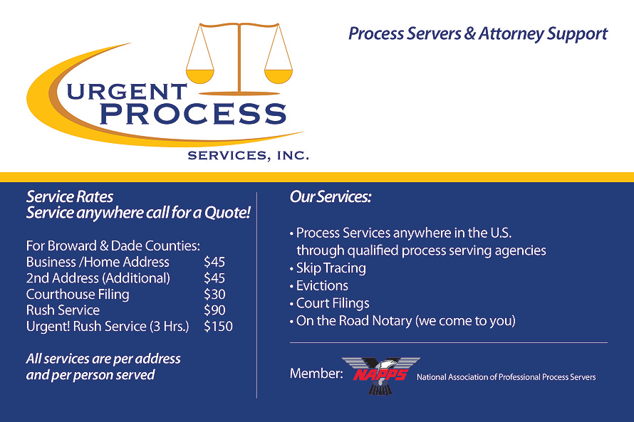 Process Servers & Attorney Support Service
