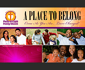 A Place to Belong Come As You Are - 1375x2125 graphic design