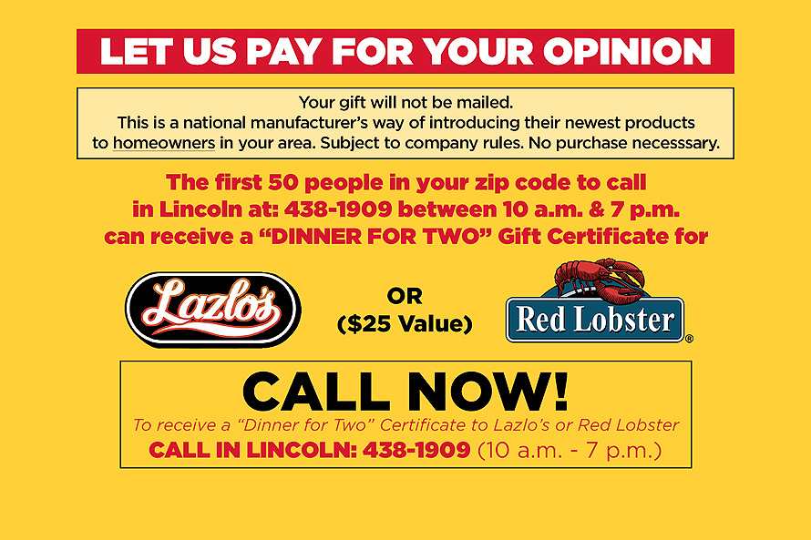 Let Us Pay For Your Opinion