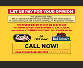 Let Us Pay For Your Opinion - tagged with call now