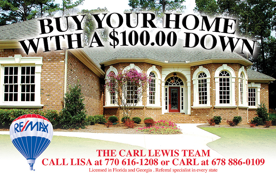 Buy Your Home With A $100.00 Down The Carl Lewis Team