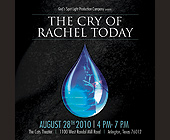 The Cry of Rachel Today - 1375x1375 graphic design