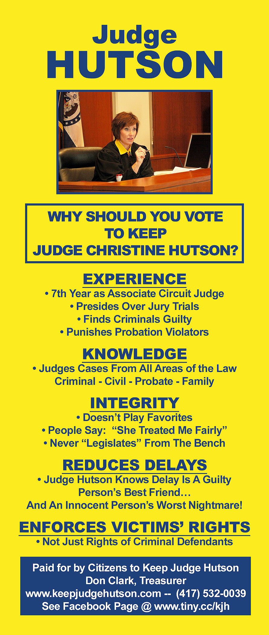 Lets Keep The Scales Of Justice Balanced In Laclede County!