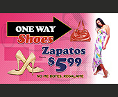 One Way Shoes - 2250x1350 graphic design