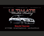 Ultimate Window Tinting - Orlando Graphic Designs