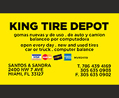 King Tire Depot - tagged with discover card logo