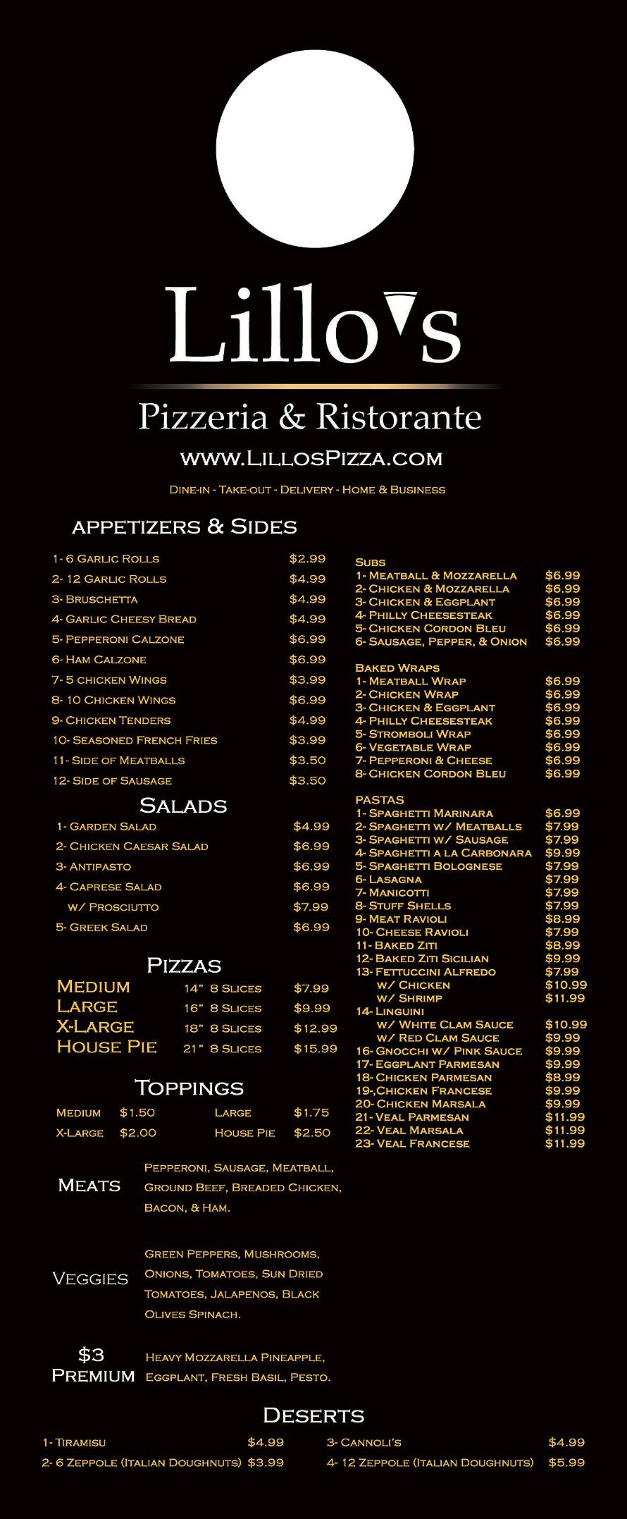 Lillo's Pizzeria and Ristorante