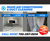 Miami Air Conditioning & Duct Cleaning - tagged with call now