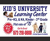 Kid's University Learning Center - Texas Graphic Designs