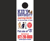 Kid's University Learning Center - Door Hangers Graphic Designs