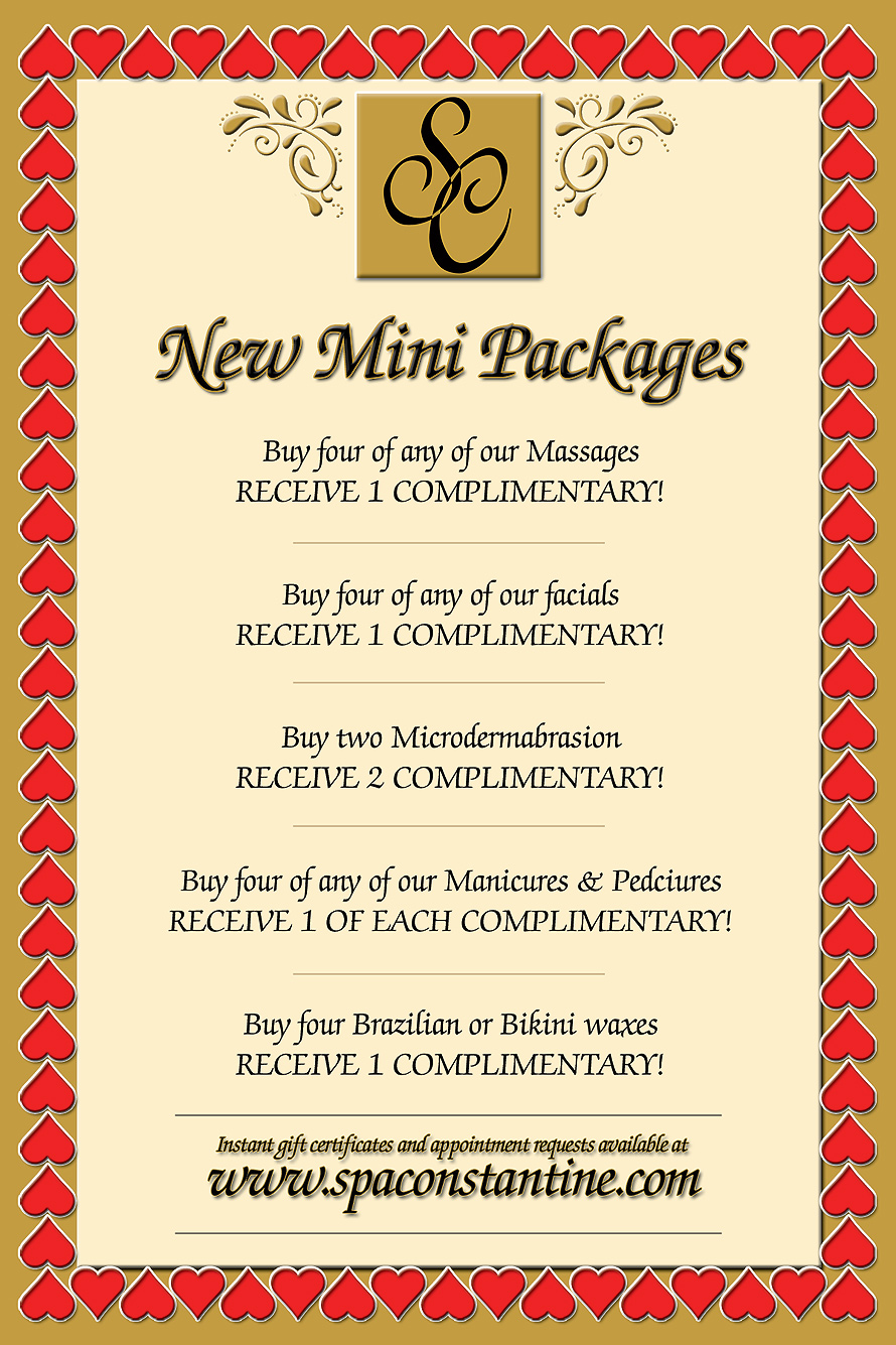 Spa Constantine's Valentines Day Promotion