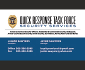 Quick Response Task Force Security Services - tagged with president