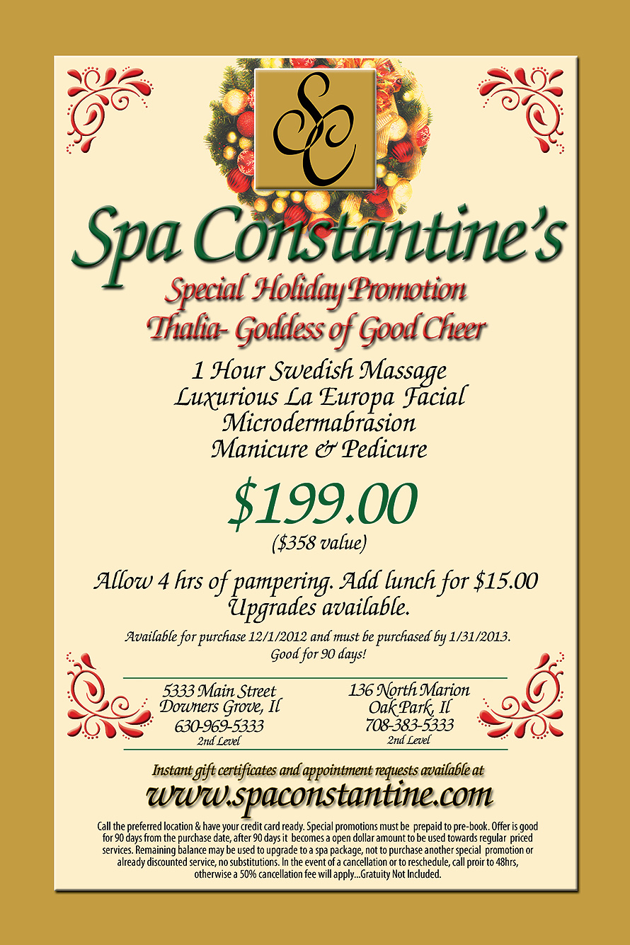 Spa Constantine Special Holiday Promotion