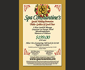 Spa Constantine Special Holiday Promotion - tagged with becomes a open dollar amount to be used towards regular