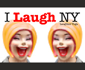 I Laugh NY Laughter Yoga - 2.75x4.25 graphic design