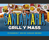 Santa Maria Grill y Mass - Restaurant Graphic Designs
