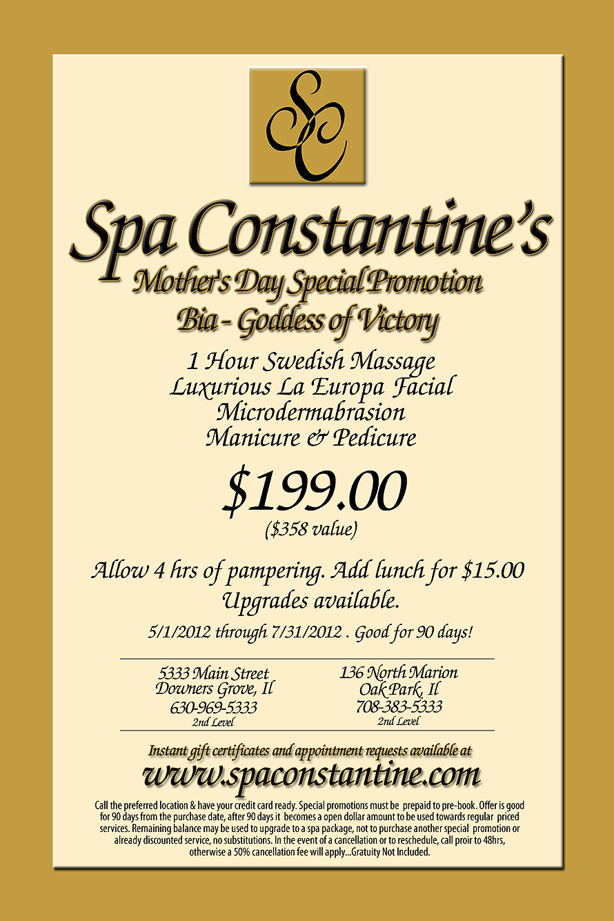 Spa Constantine Mother's Day Special Promotion