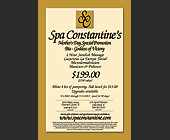 Spa Constantine Mother's Day Special Promotion - tagged with cancellation fee will apply