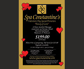 Spa Constantine Valentine's Day Special Promotion - tagged with becomes a open dollar amount to be used towards regular
