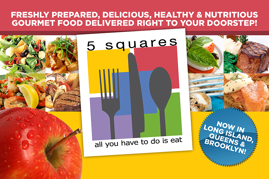 Five Squares All You Have to Do is Eat
