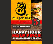 8oz Burger Bar - tagged with happy hour