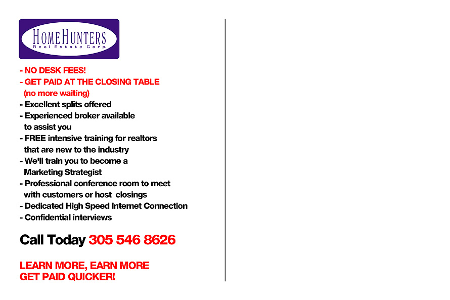 Home Hunters Real Estate Corp
