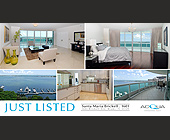 Santa Maria Just Listed Brickell - Professional Services Graphic Designs