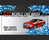 Alex Mobile Car Wash - 2.25x3.75 graphic design