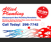 Allied Plumbing Remodeler - Postcards