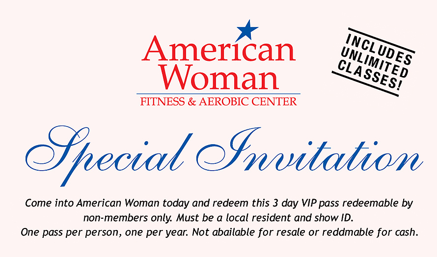 American Woman Fitness Club Invitation
