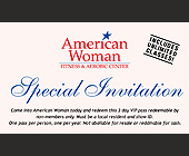 American Woman Fitness Club Invitation - Business Cards Graphic Designs