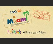 Welcomes You to Miami - Business Cards Graphic Designs