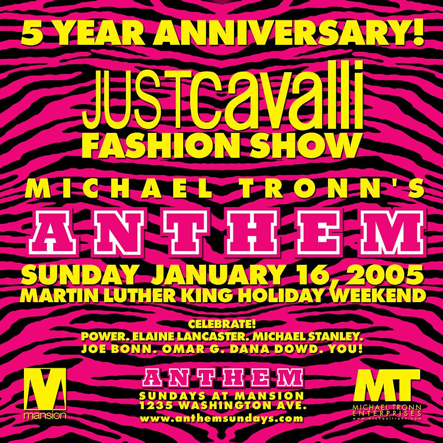 Anthem Just Cavalli Fashion Show