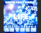 Winter Party Sunday - 1500x1500 graphic design