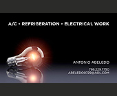A/C Refrigeration Electrical Work - client Antonio Abeledo