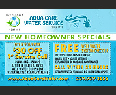 Aqua Care Water Service - Professional Services Graphic Designs