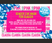 I Wear Pink for Claudia - Charity and Nonprofit Graphic Designs