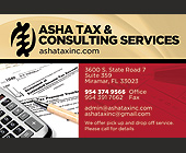 ASHA Tax & Consulting Services Inc. - 1800x1200 graphic design