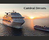 Carnival Dream Sunset Cruise Ship - Travel and Lodging Graphic Designs