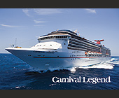 Carnival Legend Cruise Ship - Marine and Boating Graphic Designs