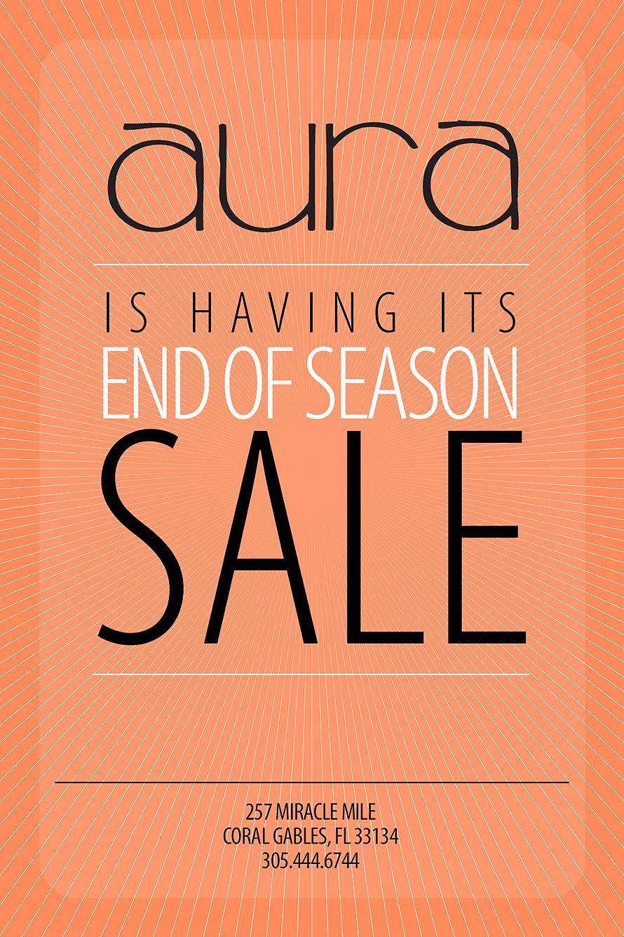 Aura End of Season Sale