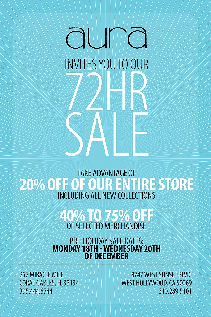 Aura 72 Hour Sale