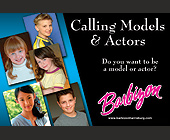 Calling Models and Actors - 1800x1200 graphic design