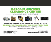 Bargain Hunters Clearance Center - 2.25x3.75 graphic design